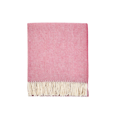New! Herringbone Throw in Lipstick