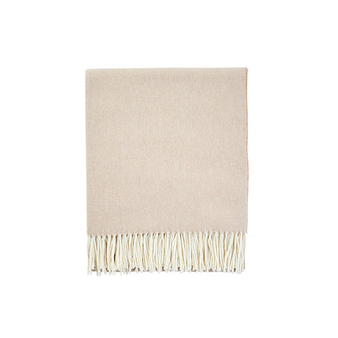 New! Herringbone Throw in Sand