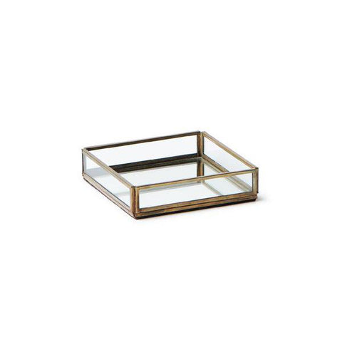 Small Brass & Glass Tray