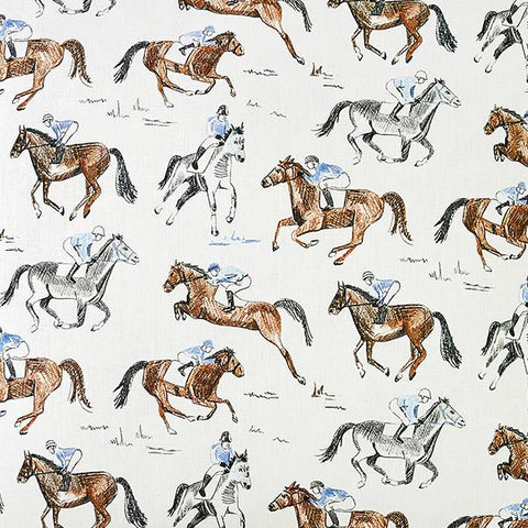 CAIT KIDS: Horse & Jockey Fabric