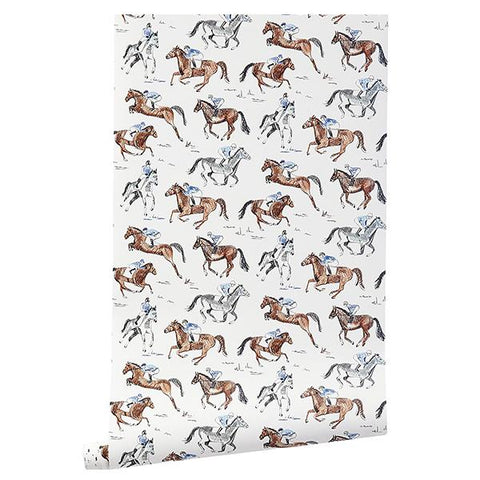 CAIT KIDS: Horse & Jockey Wallpaper