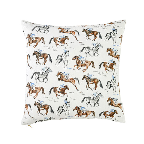 Horse & Jockey Pillow
