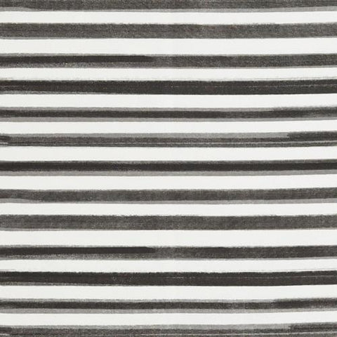 Black Hawthorne Stripe Fabric