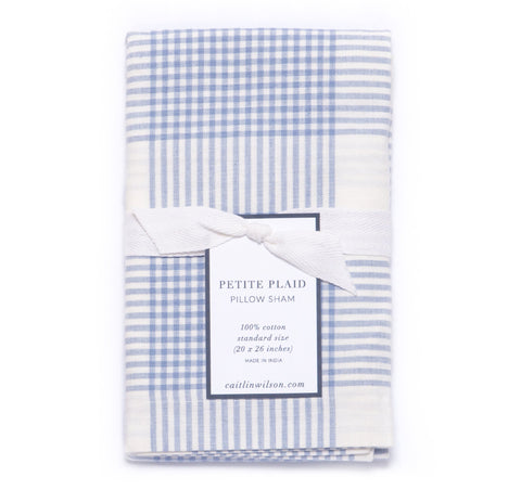 Petite Plaid Sham in Eventide
