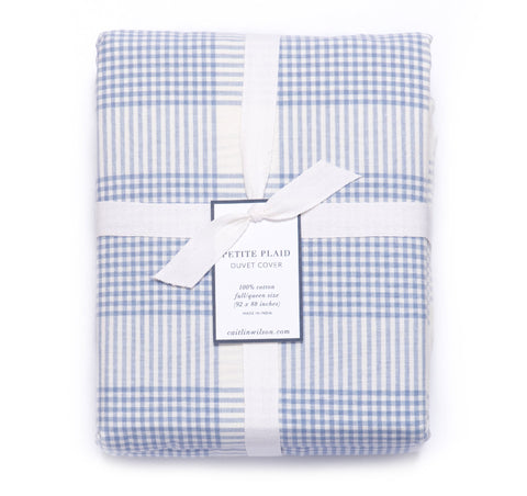 Petite Plaid Duvet Cover in Eventide