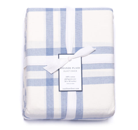 Grande Plaid Duvet Cover in Eventide