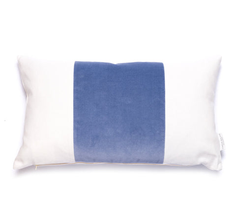 Velvet Broad Stripe Pillow in Eventide