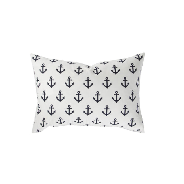 navy anchors pillow