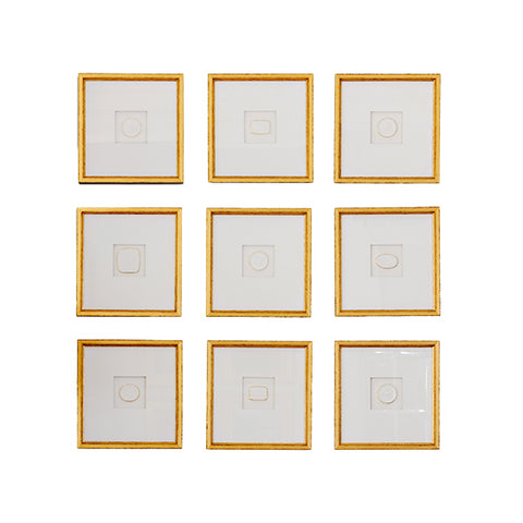 Framed Intaglio Set