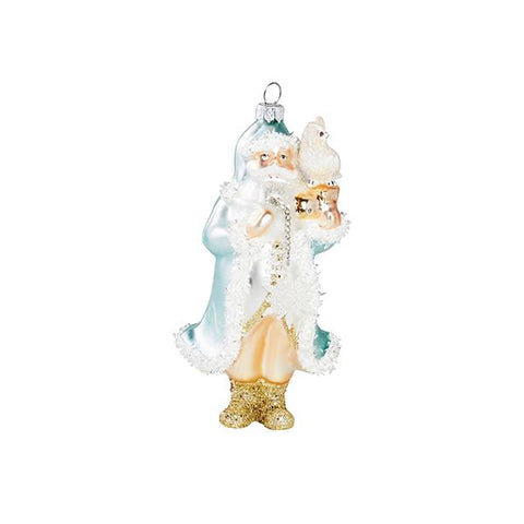 Jolly Saint Nick Ornament in Blue