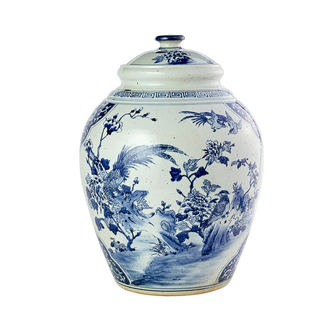 Large Brushed Porcelain Jar