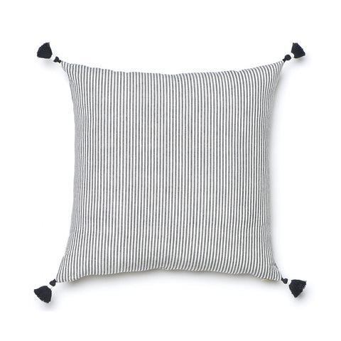 Black French Stripe Pillow