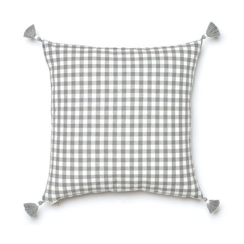 Grey Gingham Pillow