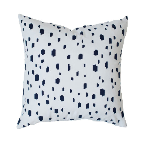 Navy Spotted Pillow