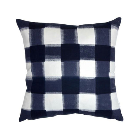 Navy Burnside Buffalo Check Pillow