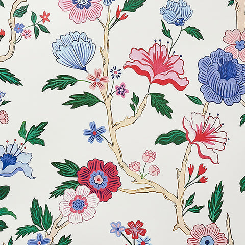 Mandarin Lily Wallpaper Swatch