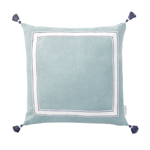 Meadow Ribbon Trim Tassel Pillow