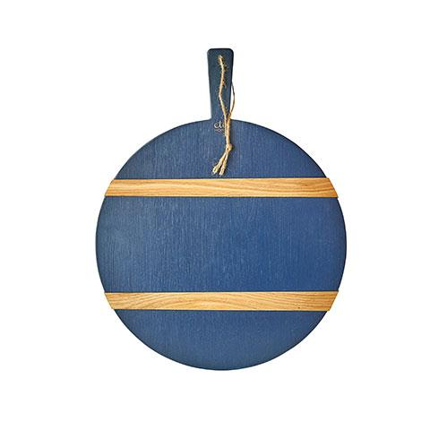 Medium Navy Round Artisan Charcuterie Board