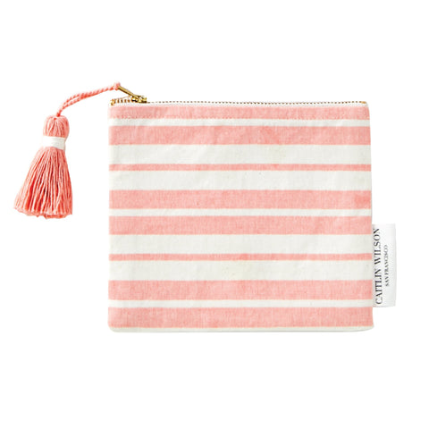 Marseille stripe pouch with tassel