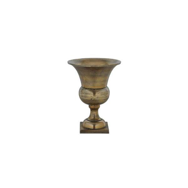 mini antique brass vase