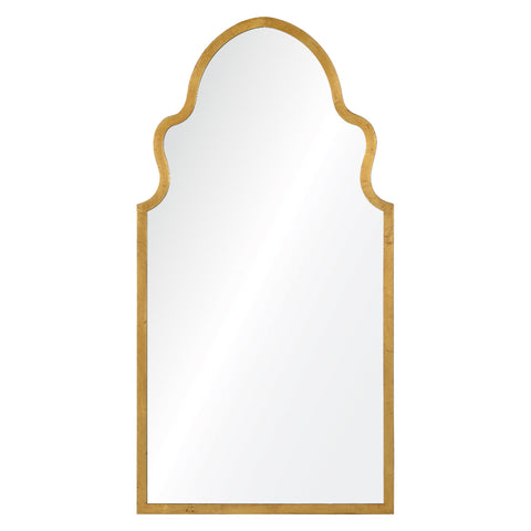 Curved Gold Mirror