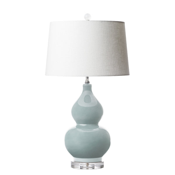 double gourde lamp in mist