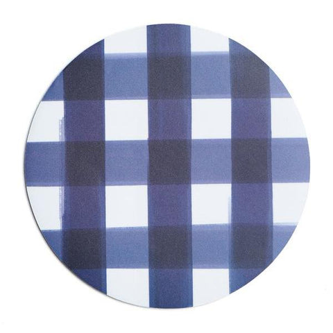 Navy Buffalo Check Mousepad