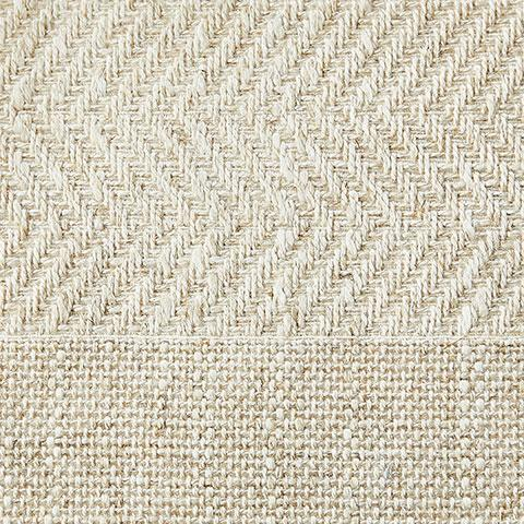 Natural Herringbone Fabric Swatch
