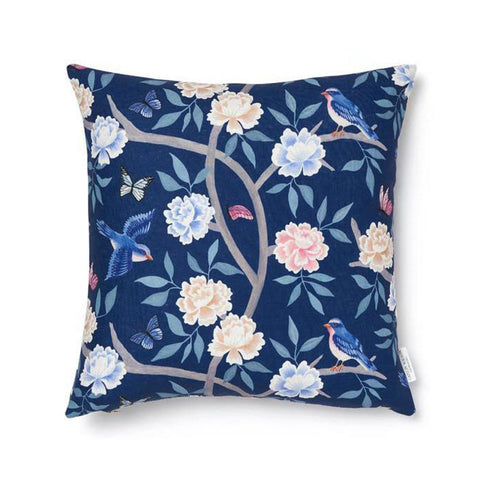 Navy Chinoiserie Pillow