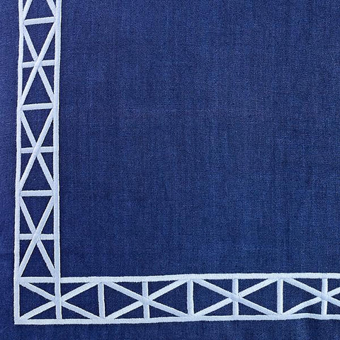 Navy Empire Trim Fabric Swatch
