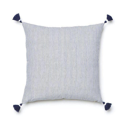 Navy French Stripe Pillow