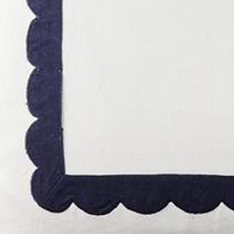 Scallop Trim in Navy Fabric Swatch