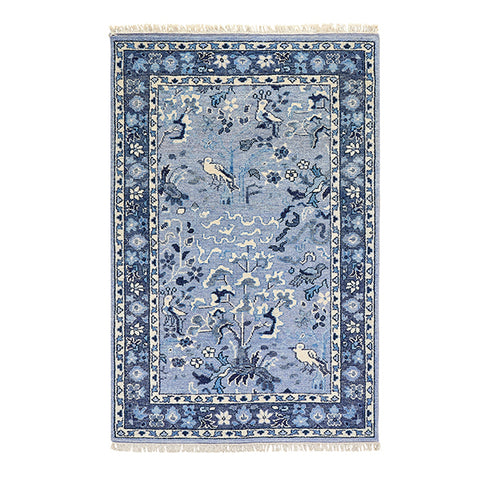 Aviary Rug in Blue