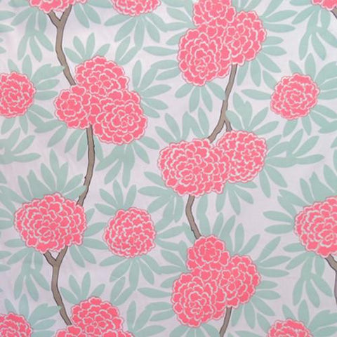 Mint Fleur Chinoise Fabric