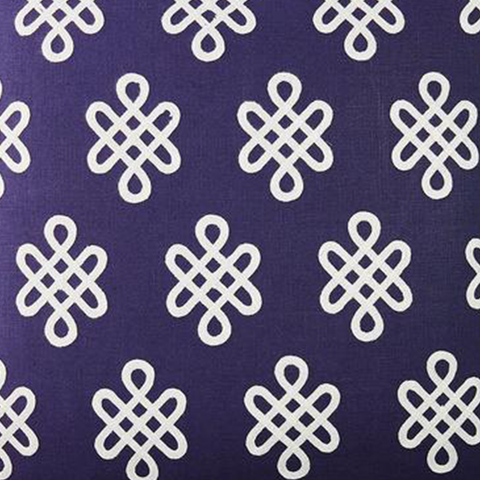 Nonogram in Navy Fabric Swatch