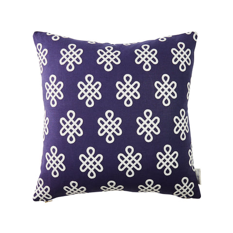 Nonogram Pillow in Navy