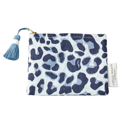 Navy Leo Pouch with Tassel