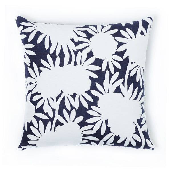 Navy Silhouette Pillow