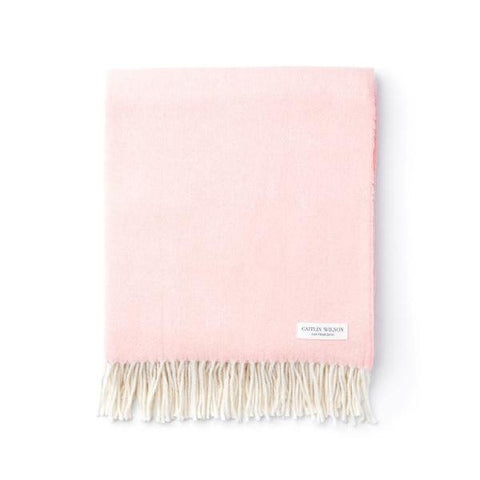 Herringbone Throw in Blush