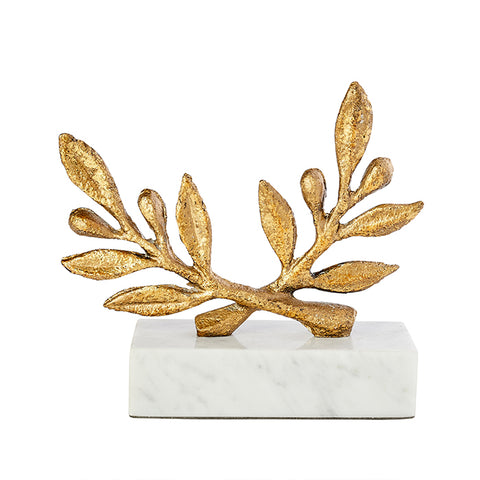 Gold Leaf Olive Branch Figurine