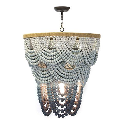 Blue Dream Beaded Chandelier