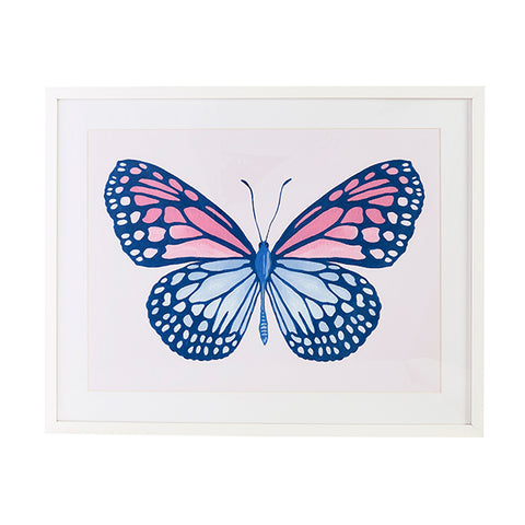 Blush & Blue Butterfly Print
