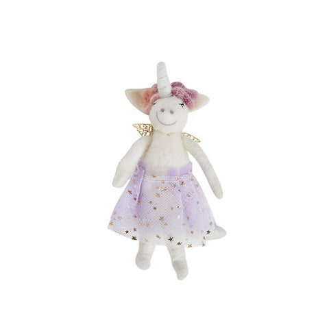 Pastel Unicorn Ornament in Lavender