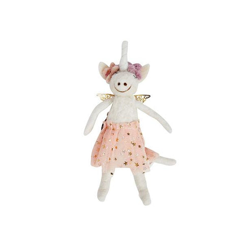 Pastel Unicorn Ornament in Pink