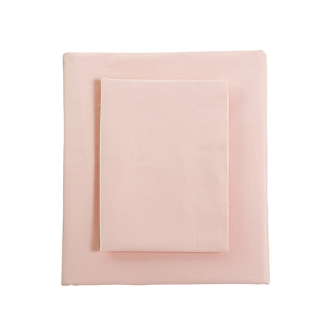 Perfect Percale Sheets in Peach Blush