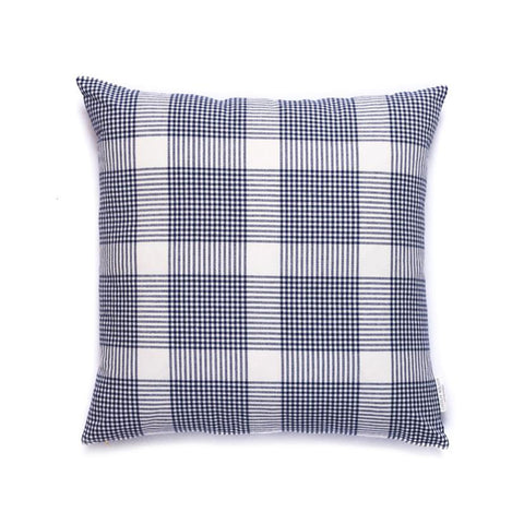 Petite Plaid Pillow in Navy