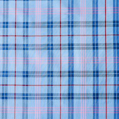 Prescott Plaid Fabric in Silk