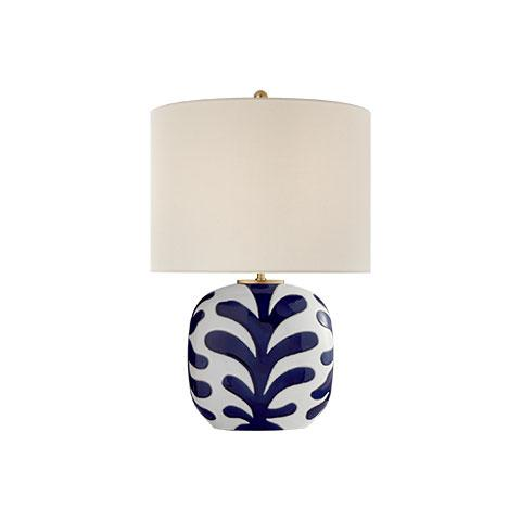 Parkwood Medium Table Lamp in White & Cobalt