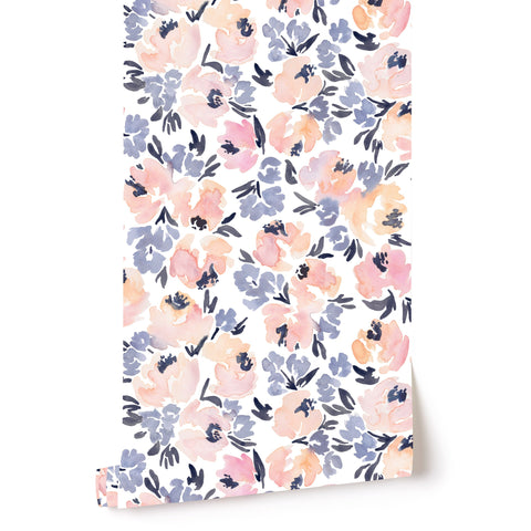 PRE-SALE: Peony Garden in French Blue Wallpaper