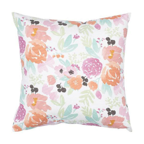 Petite Pastel Blooms Pillow on White
